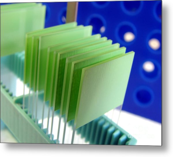 Laboratory Equipment In Science Research Lab Metal Print