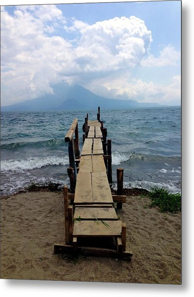 Lake Atitlan Dock Metal Print