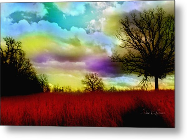 Landscape In Red Metal Print
