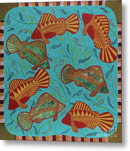 Large Barramundi Swimming  Metal Print