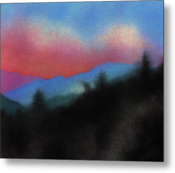 Last Light At Red Box Junction Metal Print by Robin Street-Morris