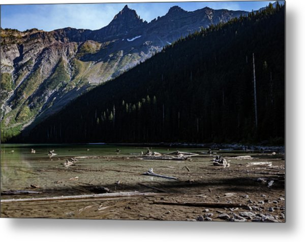 Metal Print featuring the photograph Late Afternoon On Avalanche Lake by Lon Dittrick