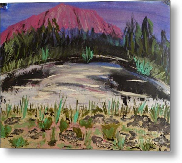 Lavender Mountain Metal Print by Marie Bulger