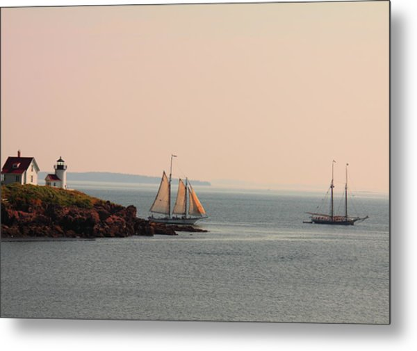 Leaving Camden Harbor Metal Print