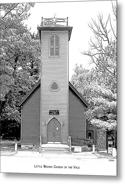 Little Brown Church Metal Print