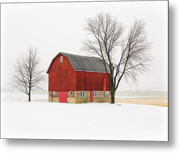 Little Red Barn Metal Print
