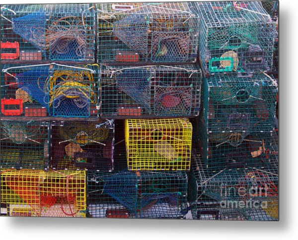 Lobster Traps Metal Print by Linda Drown
