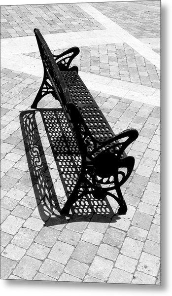 Lone Bench Metal Print by Jez C Self