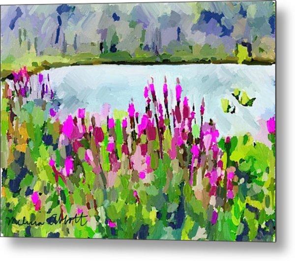 Loosestrife Blooming At Sleepy Hollow Pond Metal Print