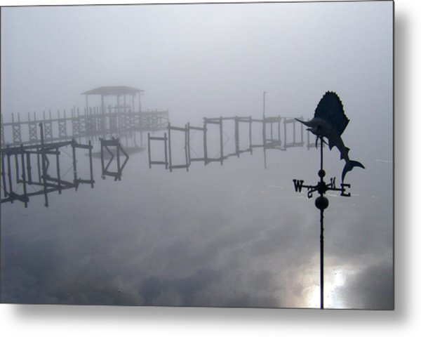 Lost In The Fog Metal Print by Nicole I Hamilton