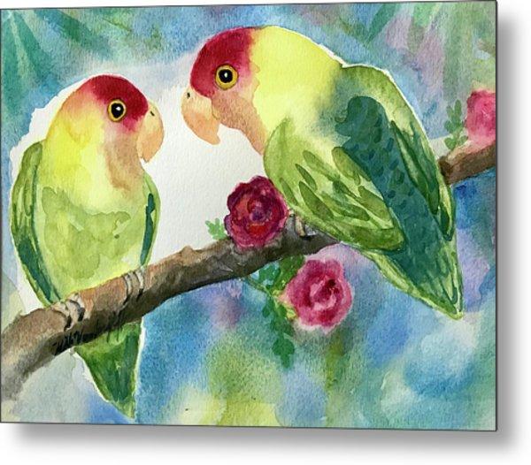 Love Birds  Metal Print