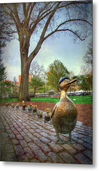 Make Way For Ducklings - Boston Metal Print