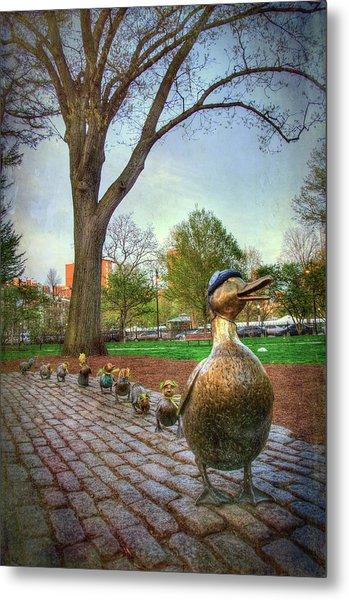 Make Way For Ducklings - Boston Metal Print by Joann Vitali