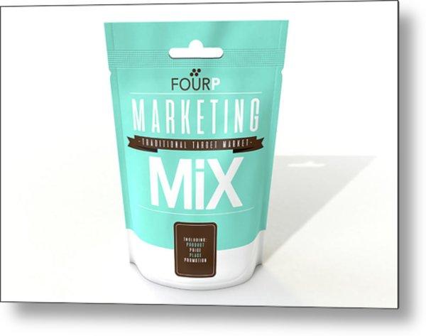 Marketing Mix 4 P's Metal Print