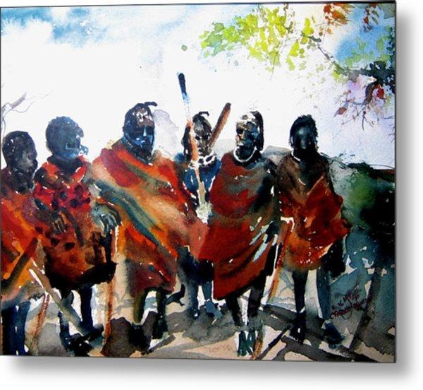 Masaai Boys Metal Print