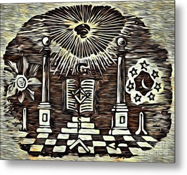 Masonic Symbolism Reworked Metal Print
