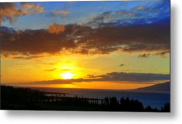 Maui Sunset At The Plantation House Metal Print