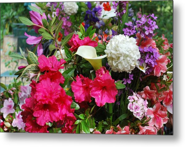 May Flowers Metal Print by Linda Sramek