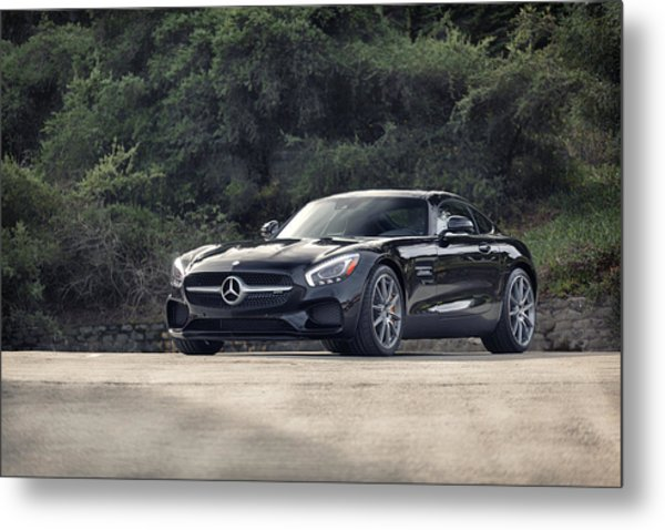 Metal Print featuring the photograph #mercedes #amg #gts by ItzKirb Photography