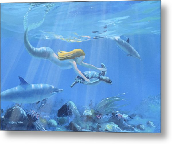 Mermaid Fantasy Metal Print