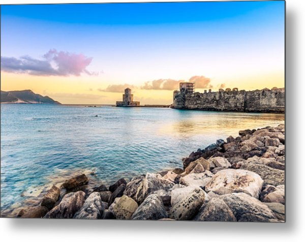 Methoni's Castle / Greece. Metal Print