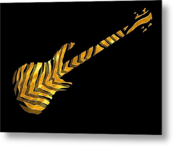 Metal Print featuring the digital art Midas Bass by Guitar Wacky