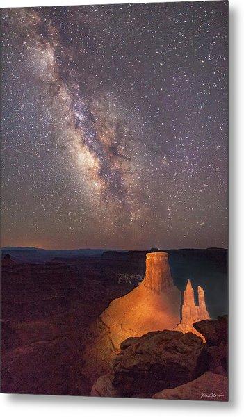 Milky Way At Marlboro Point Metal Print