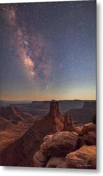 Milky Way At Twilight - Marlboro Point Metal Print