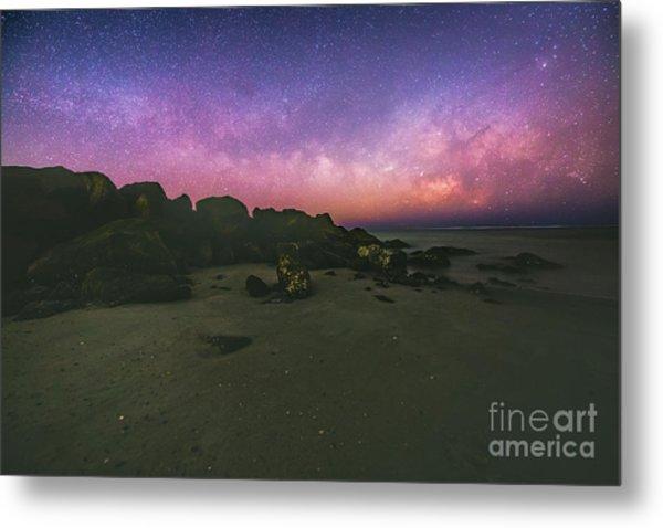 Milky Way Beach Metal Print