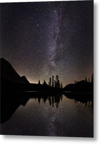 Mirror Lake Milky Way Metal Print