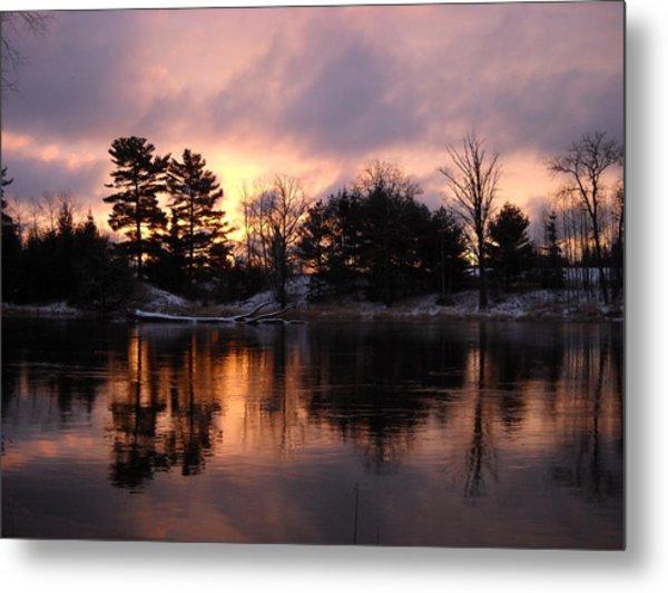 Mississippi River Dawn Light Metal Print