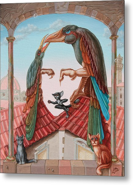 Mona Lisa. Air Metal Print