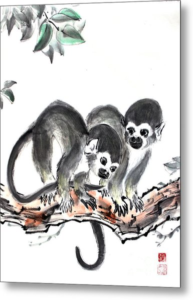 Monkeys Metal Print