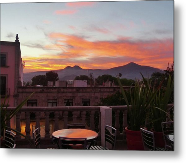 Morelia Sunset Metal Print