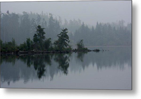 Morning Fog Over Cranberry Lake Metal Print