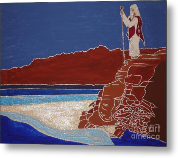 Moses And The Red Sea Metal Print by Daniel Henning