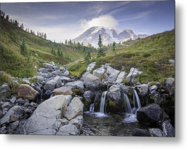 Mt. Rainier Metal Print by Michael Donahue