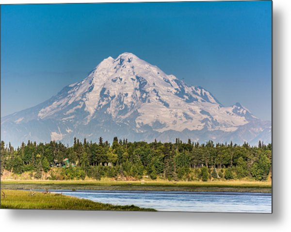 Mt. Redoubt Metal Print