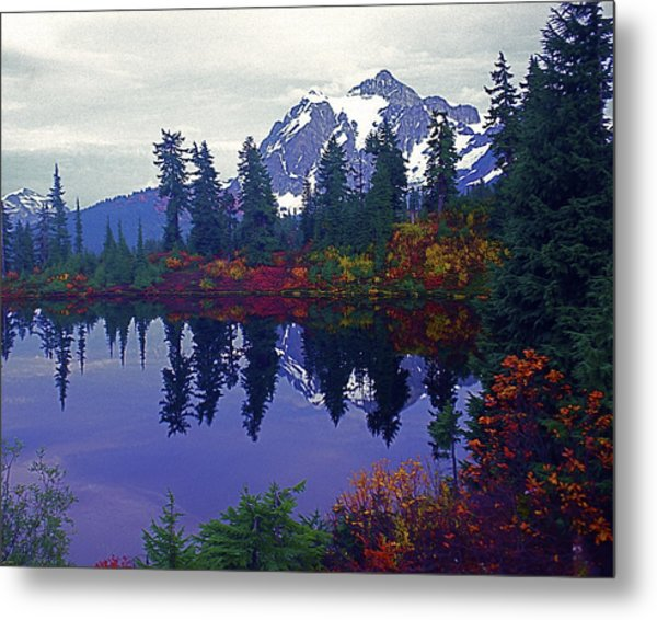 Mt. Shuksan - Picture Lake Metal Print