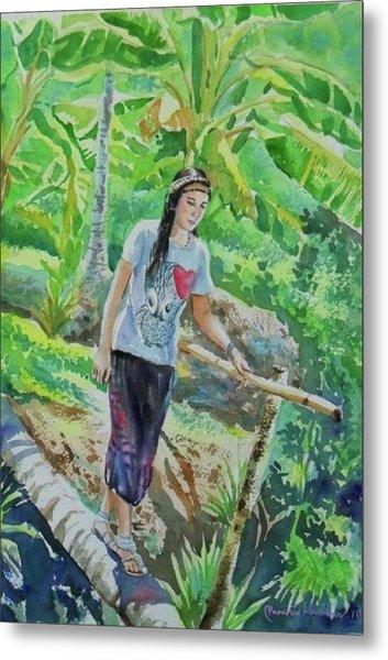 My Good Memories In Ampawa Garden Metal Print