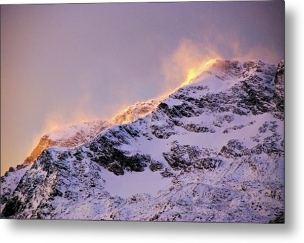 mystery mountains in North of Norway Metal Print