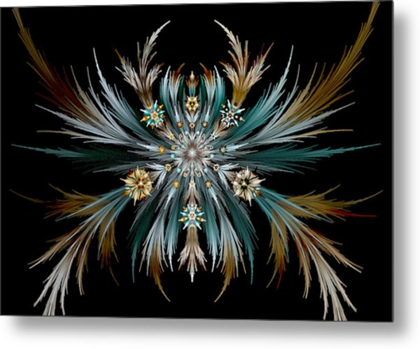 Native Feathers Metal Print