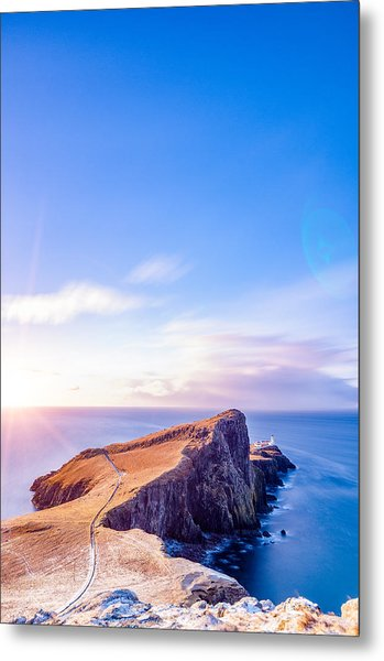 Neist Point Lighthouse At Dawn Metal Print