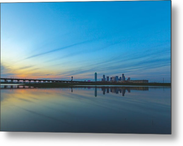 Night Begins Metal Print