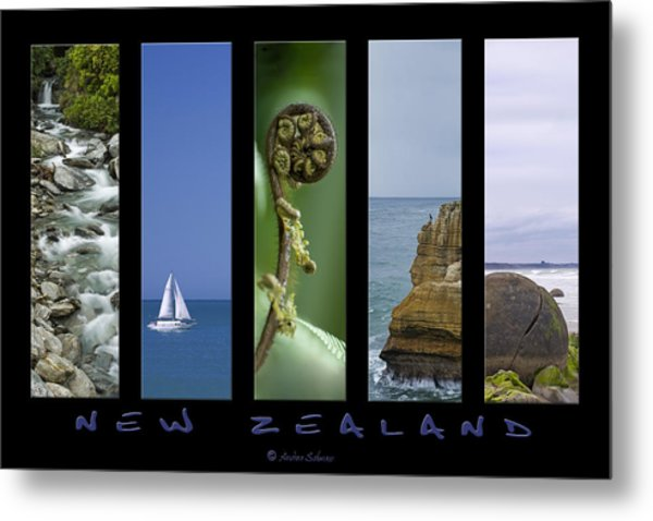 New Zealand Metal Print by Andrea Cadwallader