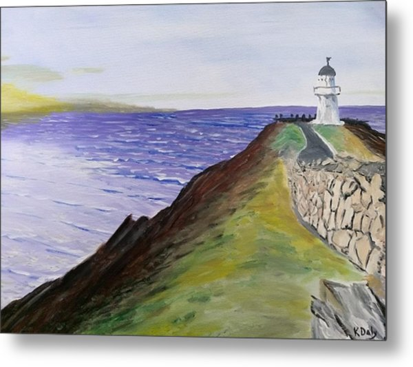New Zealand Lighthouse Metal Print
