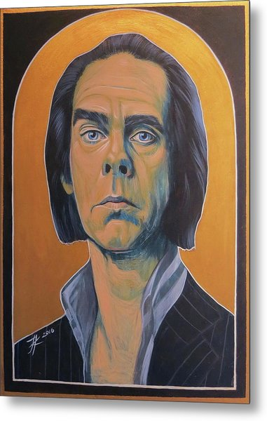 Nick Cave Metal Print by Jovana Kolic