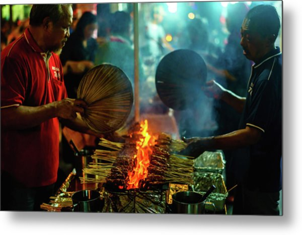 Night Satay II Metal Print