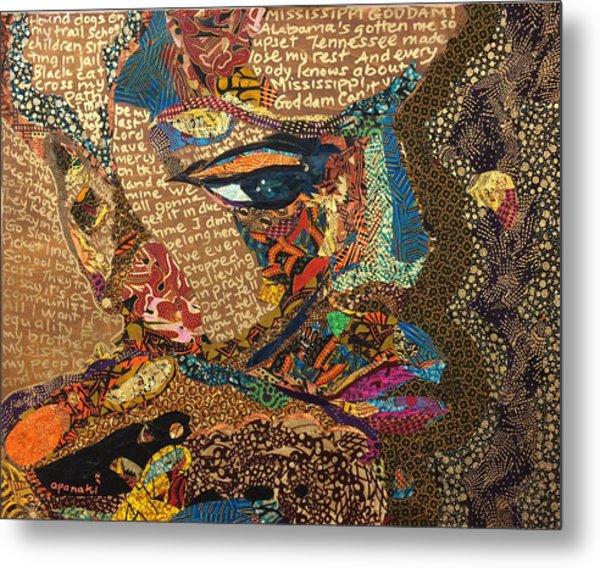 Nina Simone Fragmented- Mississippi Goddamn Metal Print