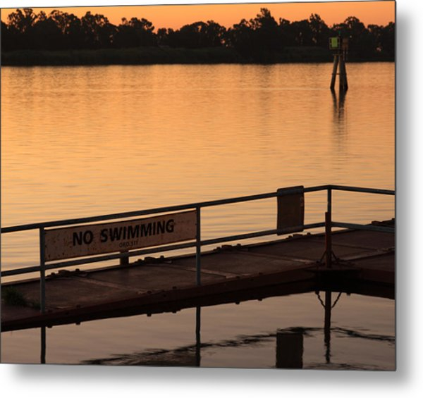 No Swimming Rio Vista Ca Metal Print by Troy Montemayor